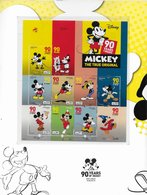 6 SCANNERS- TIMBRES- STAMPS- PORTUGAL -MICKEY 90 YEARS MAGIC -BLOC-FEUILLETS TIMBRES NEUFS-MHN ET FDC NUMÉROTÉES (1211) - Disney