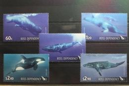 Neuseeland Ross-Gebiet 119-123 ** Postfrisch Wale #SK699 - Unclassified