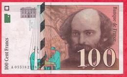 """100 Francs """"Cézanne"""" 1998---VF/SUP----n °A055182278 - 1992-2000 Dernière Gamme"""