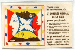 PICASSO(3eme CONGRES MONDIAL DE LA PAIX) - Picasso