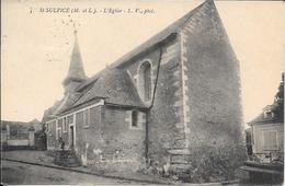 Cpa  49 Saint Sulpice , L'église , écrite 1926 - France