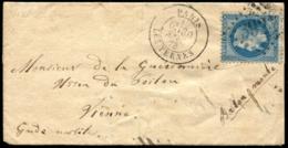 """Lot N°8128d - France - 29B - Ballon Monté L'Armand Barbès Obl GC """"3921"""" + Càd """"PARIS 30/SEPT/70"""" Sur Pli Pour VIENNE - Postmark Collection (Covers)"""