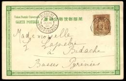 """Lot N°8303a - France N°85 Obl Càd """"TRESOR ET POSTE AUX ARMEES/CHINE.1. 19/AVRIL/01"""" Sur CP Datée De PEKIN Pour BIDACHE - Postmark Collection (Covers)"""