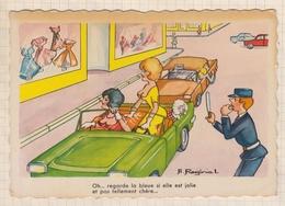 8AK3860 Illustrateur - A Raginal - Humour Voiture Gendarme 2  SCANS - Autres Illustrateurs