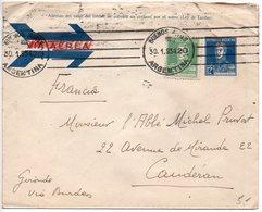 Argentine : Entier Postal De 1934 Pour La France - Storia Postale