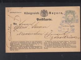 Bayern GSK 1873 Fächerstempel Landau - Bayern