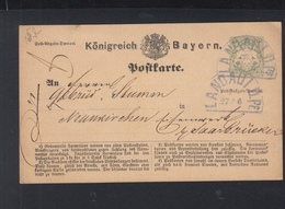 Bayern GSK 1873 Fächerstempel Landau - Bavaria