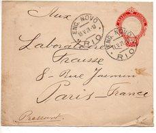 Brésil : Entier Postal De 1921 Pour La France - Postwaardestukken