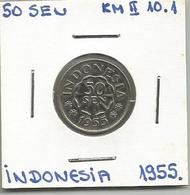 A12 Indonesia 50 Sen 1955. KM#10.1 - Indonésie