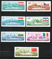 HONGRIE  Bateaux International Du Danube 1967 N° 1889-95 - Hungary