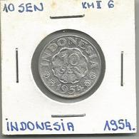A12 Indonesia 10 Sen 1954. KM#6 - Indonesia