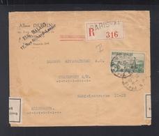 Frankreich France Brief 1936 Paris Nach Frankfurt Devisenüberwachung - Poststempel (Briefe)