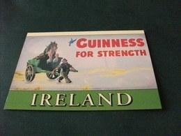 BIRRA BIER GUINNESS FOR STRENGTH CARRO CON SOPRA CAVALLO TRAINATO DA UOMO   IRELAND - Advertising