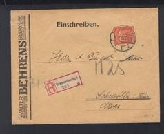 Dt. Reich R-Brief Behrens Braunschweig 1926 - Deutschland