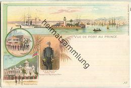 Haiti - Port Au Prince - Parmacie Centrale - Palais National - Verlag J. Miesler Berlin Ca. 1895 - Ansichtskarten