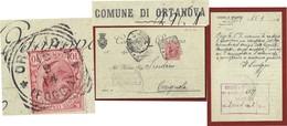 COMUNE DI ORTANOVA  CARTOLINA PUBBLICITARIA  CON STEMMA AUTOGRAFA  DEL SINDACVO  1914 - Documenti Storici