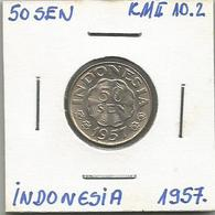 A12 Indonesia 50 Sen 1957. KM#10.2 - Indonésie
