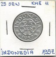 A12 Indonesia 25 Sen 1957. KM#11 - Indonésie
