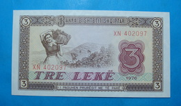 ALBANIA 3 LEKE 1976 Serial # XN 402097 - Albanie