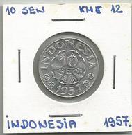 A12 Indonesia 10 Sen 1957. KM#12 - Indonésie