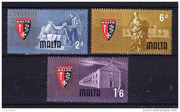 Malta 1964 European Catholic Doctors 3v ** Mnh (41334F) - Malta