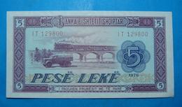 ALBANIA 5 LEKE 1976 Serial # IT 129800 - Albanie