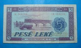 ALBANIA 5 LEKE 1976 Serial # IK 068208 - Albanie