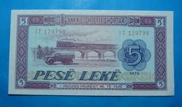 ALBANIA 5 LEKE 1976 Serial # IT 129799 - Albanie