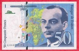 "50 Francs ""St Exupéry"" 1997----VF/SUP---n° Q 044060174 - 1992-2000 Aktuelle Serie"