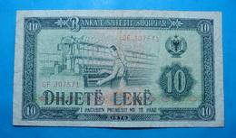 ALBANIA 10 LEKE 1976 Serial # GF 307571 - Albanie