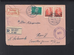 Jugoslawien Expres Brief 1950 Nach Wien Zensur - 1945-1992 Sozialistische Föderative Republik Jugoslawien