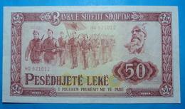 ALBANIA 50 LEKE 1976 Serial # HQ 621012 - Albanie