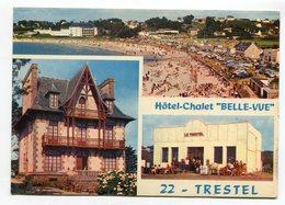 """Ref 200 - TREVOU - TRESTEL - Hôtel-chalet """"BELLE-VUE"""" Bar Restaurant - Jolie CPSM Grand Format - Scan Verso - Frankrijk"""