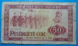ALBANIA 50 LEKE 1976 Serial # HV 541406 - Albanie