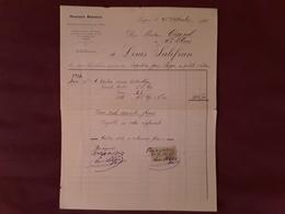 Facture PRODUITS RESINEUX BOIS DE PIN, Lugos Gironde , Essence Terebenthine Fiscal 50 C   > St Flour Cantal 1923 Tb - Agriculture