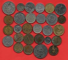**  MONDE - LOT DE 26 PIECES + 2 JETONS  ** - Monnaies