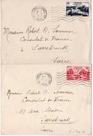 12F Et 18F Nations-Unies Paris 1948 Sur 2 Lettres Oblitérées Flamme 'Nations Unies Assemblée Générale' - Marcophilie (Lettres)