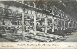 Pays Div -ref N690- Australie - Australia - Quartz Crushing Battery , City Of Bendigo -victoria - Carte Bon Etat - - Bendigo