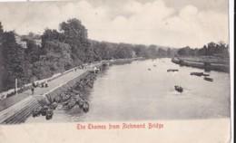 AP24 The Thames From Richmond Bridge - 1905 Postcard - London Suburbs