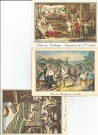 Vendanges  Vignoble Bordelais 3 CPM Tapisserie De Bruxelles  Scene De Vendanges - Vignes