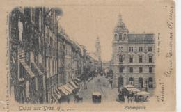 AK 0084  Gruss Aus Graz - Herrengasse / Verlag Kölz Um 1900 - Graz