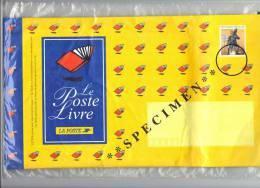 France , Entier Enveloppe Poste Livre Spécimen . - Entiers Postaux