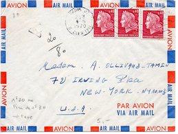 0,40 Cheffer X3 Sur Lettre Par Avion De 1970 Pour Les Etats Unis Affranchie à 1f20 Au Lieu De 1f30 D'où La Mention  Taxe - 1961-....