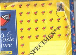 """Entier Enveloppe Spécimen  """" Le Poste Livre """" Grand Format ( 38 X 25 ). - Entiers Postaux"""