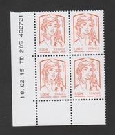 FRANCE / 2013 / Y&T N° 4770 ** : Ciappa 1.00 € X 4 - Coin Daté 2015 02 10 - TD 205 - Angoli Datati