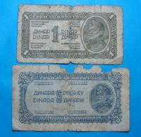 YUGOSLAVIA 1 And 5 DINARA 1944 - Yugoslavia