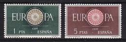 Europa CEPT - Spanje - MH - M 1189-1190 - 1960