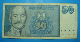 YUGOSLAVIA 50 DINARA 1996 - Yugoslavia
