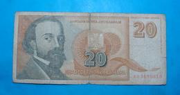 YUGOSLAVIA 20 NEW DINARA 1994 - Yugoslavia