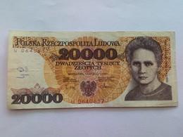 POLAND 20000 ZLOTYCH 1989 - Poland